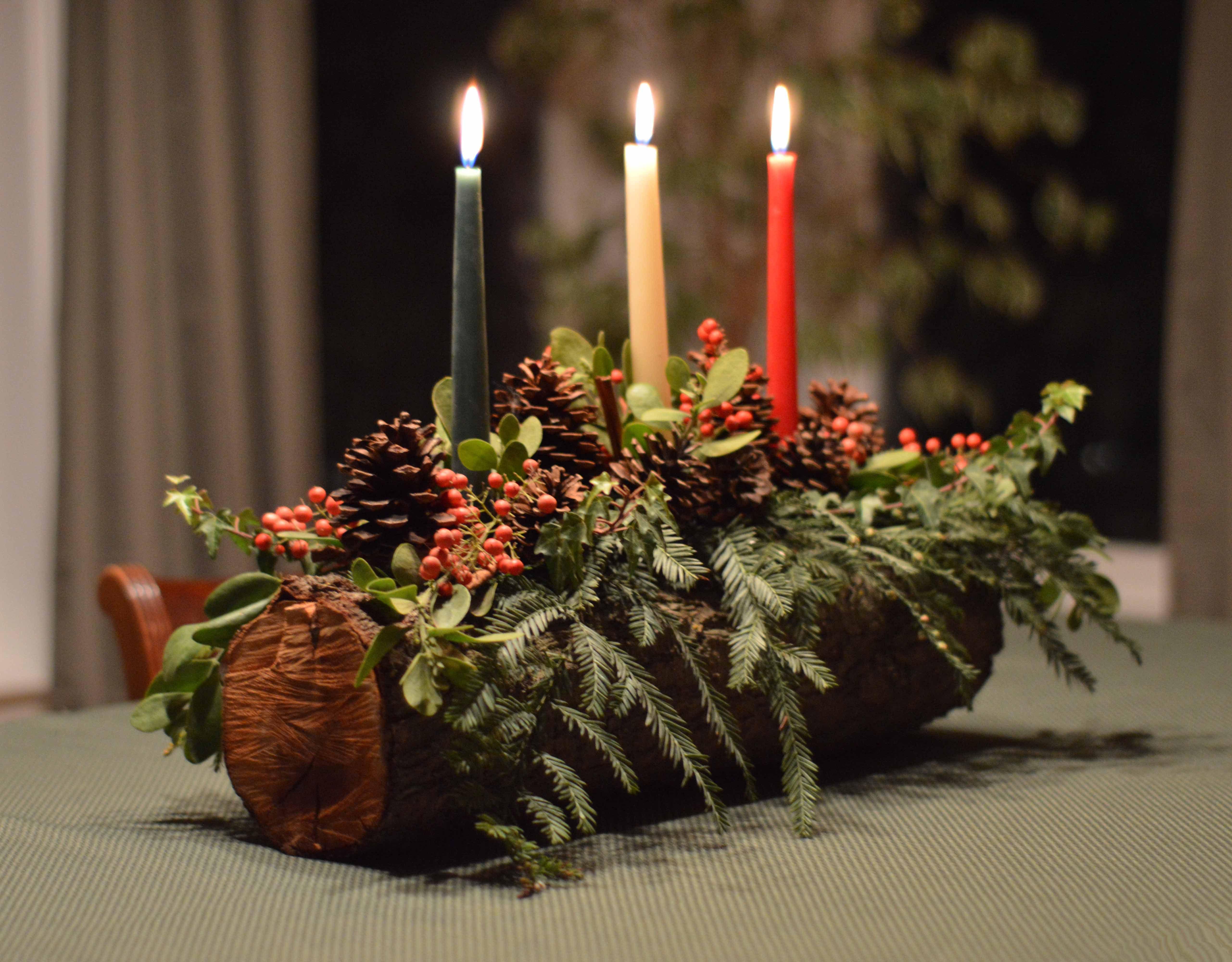 Yule log-candles